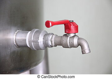 Turn off the water faucet. - The faucet is Turn on and Turn...