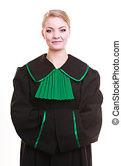 Young female lawyer attorney wearing classic polish black...