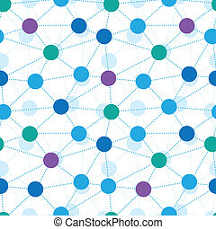 Connected dots seamless pattern background - Vector...