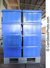 Bluel, caixa, Pallets