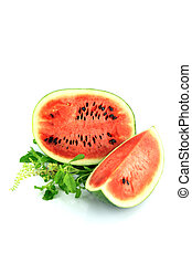The Focus watermelon on white background - Watermelon which...