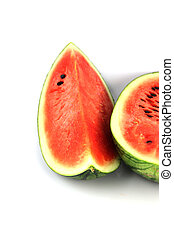 The Watermelon which are sliced - The Focus watermelon on...