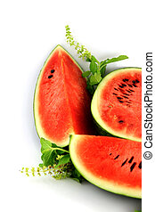 The Watermelon which are Three sliced - The Focus watermelon...