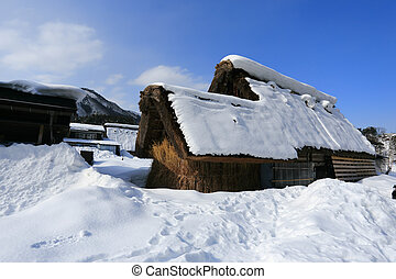 Shirakawago, Gifu, Japan - World Heritage, Historic Village...