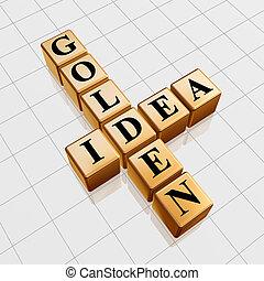 golden idea like crossword