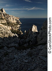 Splendid cliffs Calanques in southern France