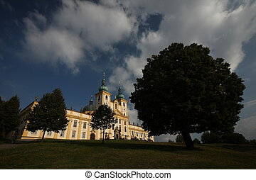 Splendid baroque basilica in Holy Hill near Olomouc. -...