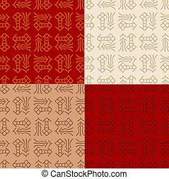 chinese Fu seamless pattern - chinese Fu good luck,...