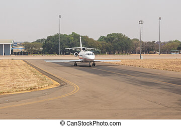LIVINGSTONE - OCTOBER 14 2013: Local planes are often the...