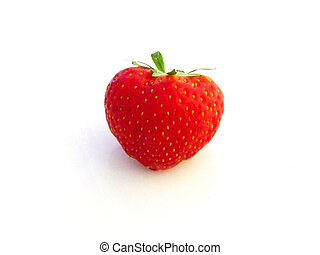 strawberry - an isolated strawberry on a white background