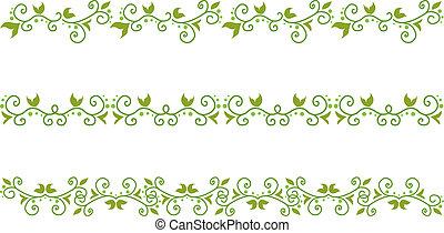 green floral border - Set of green floral border