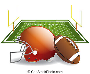 American Football - Vector illustration of american football...