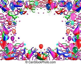 abstract frame balloon