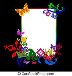 abstract frame butterfly