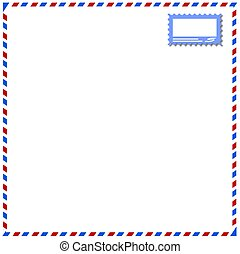 abstract frame airmail