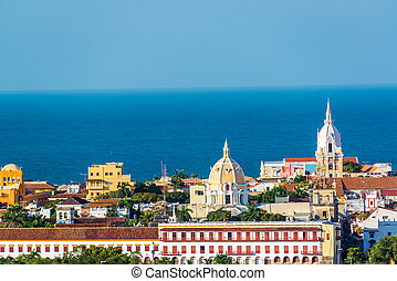 Cartagena Old Town - Historic center of Cartagena with...