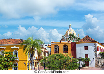 Colonial Buildings and Church - Historic colonial buildings...