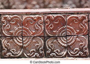 Brick stairs style.