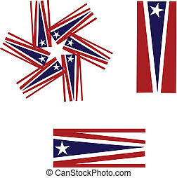 Vector Set of American flags logo