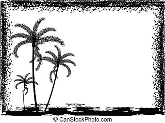 Palm tree with frame