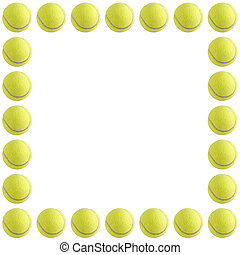 Tennis Ball Frame - A bunch of tennis balls isolated on a...