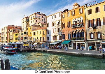 View of Grand Canal - Famous Grand Canal in Venice and...