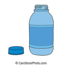 Motor Oil Red Plastic Bottle - Plastic container, Motor oil...
