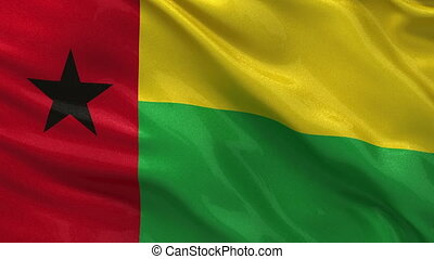 Flag of Guinea Bissau seamless loop - Flag of Guinea Bissau...