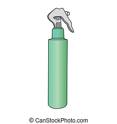 spray bottle vector - image of spray bottle vector isolated...