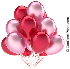 Party balloons pink red decoration