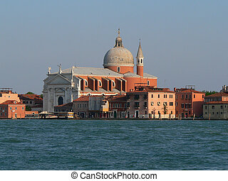 Redentore Church on Giudecca in Venice, viewed from a boat...