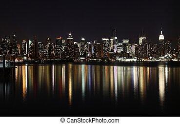 Manhattan at night - Midtown West Side Manhattan at night