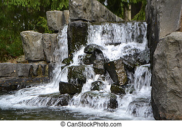 Small waterfall in Imatra, Finland
