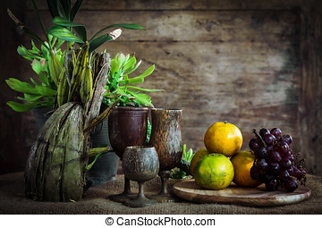 Still Life Photography with vegetables and fruits