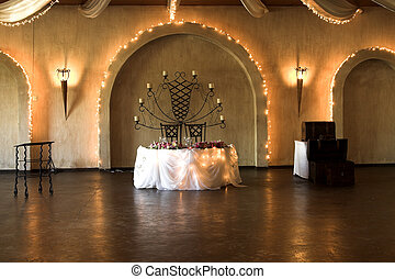 Wedding Table Setting - Wedding Table setting with rusted...