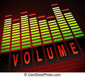 Volume concept - illustration depicting graphic equalizer...