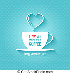 valentines day coffee cup design background