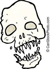 cartoon scary skull