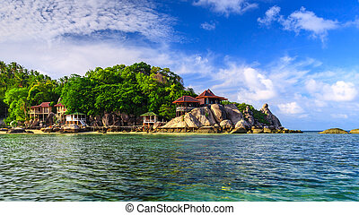 Beautiful sea at tropical island, Koh Tao, Thailand