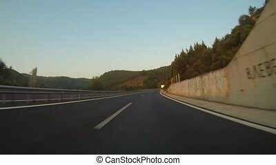 Mountain Road In Greece - Driving On A Mountain Road In...