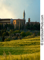 View of Pienze, Italy. - Pienza Italy, a small village in...