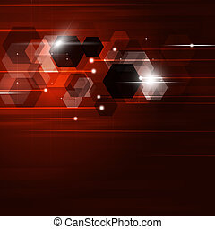 Abstract GeometricBackground - abstract technology geometric...
