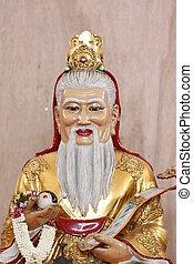 chino, deidades, estatua