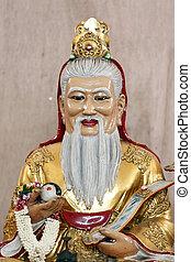 estatua, deidades, chino