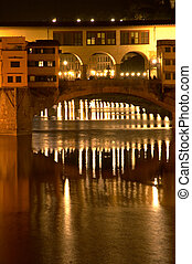 Ponte Vecchio by night, Florence Italy - Ponte Vecchio...
