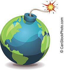 Earth Planet Warning Bomb