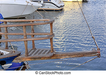 wooden ship bow