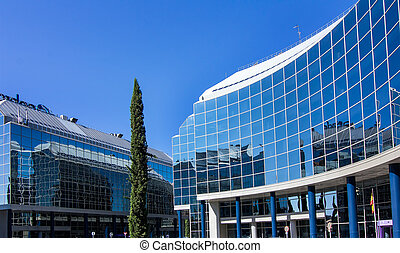 MADRID, SPAIN OCT 15: Modern building with glass...