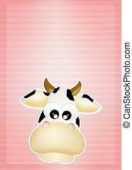 Funny cow - illustration of funny cow