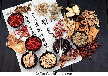 acupuntura, alternativa, Medicina